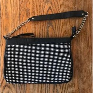 Black and silver studded purse